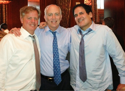 Robert Hart, Tom Melsheimer and Mark Cuban celebrating Cuban's win over the SEC on insider trading charges.