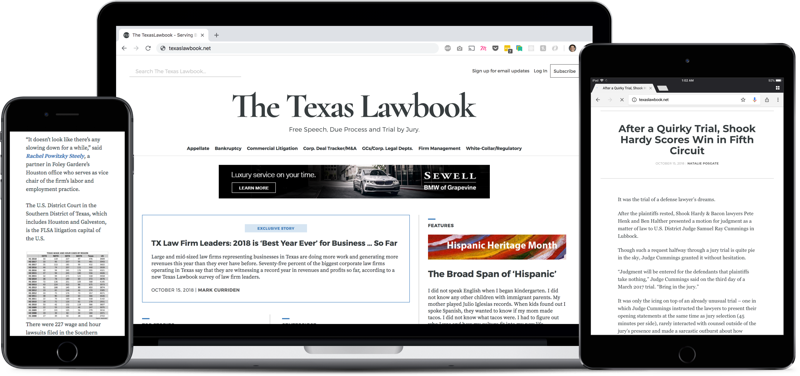 Welcome to the new Texas Lawbook
